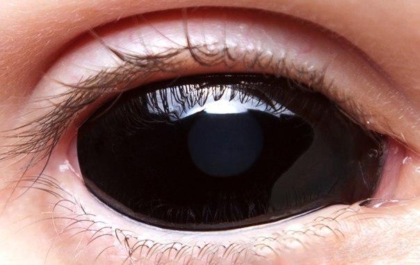 Черные линзы на весь глаз своими руками